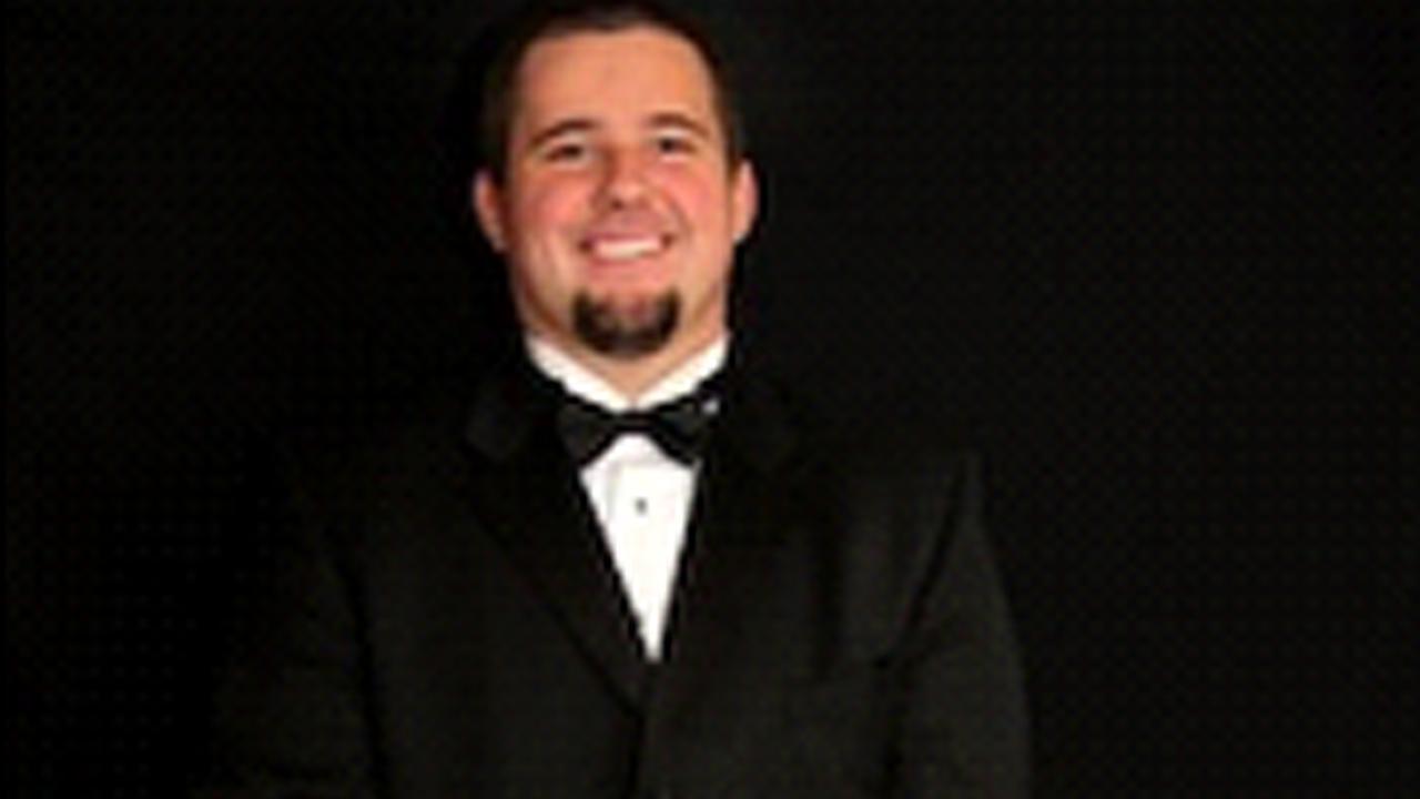 Garrett Karlin is shown in this photo on the University of Redlands website.