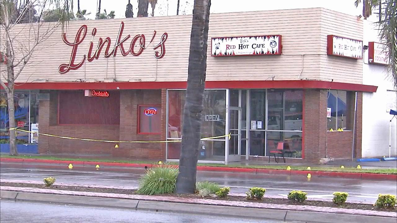 Linkos in Colton is seen. A man was reportedly shot and killed outside the bar on Friday, Jan. 25, 2013.