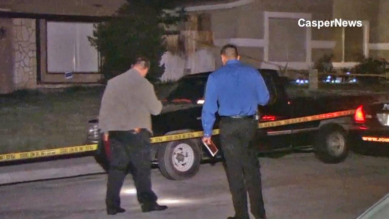 An investigation is under way by homicide detectives in the possible murder of a woman at a group home in Moreno Valley Sunday, March 24, 2013.