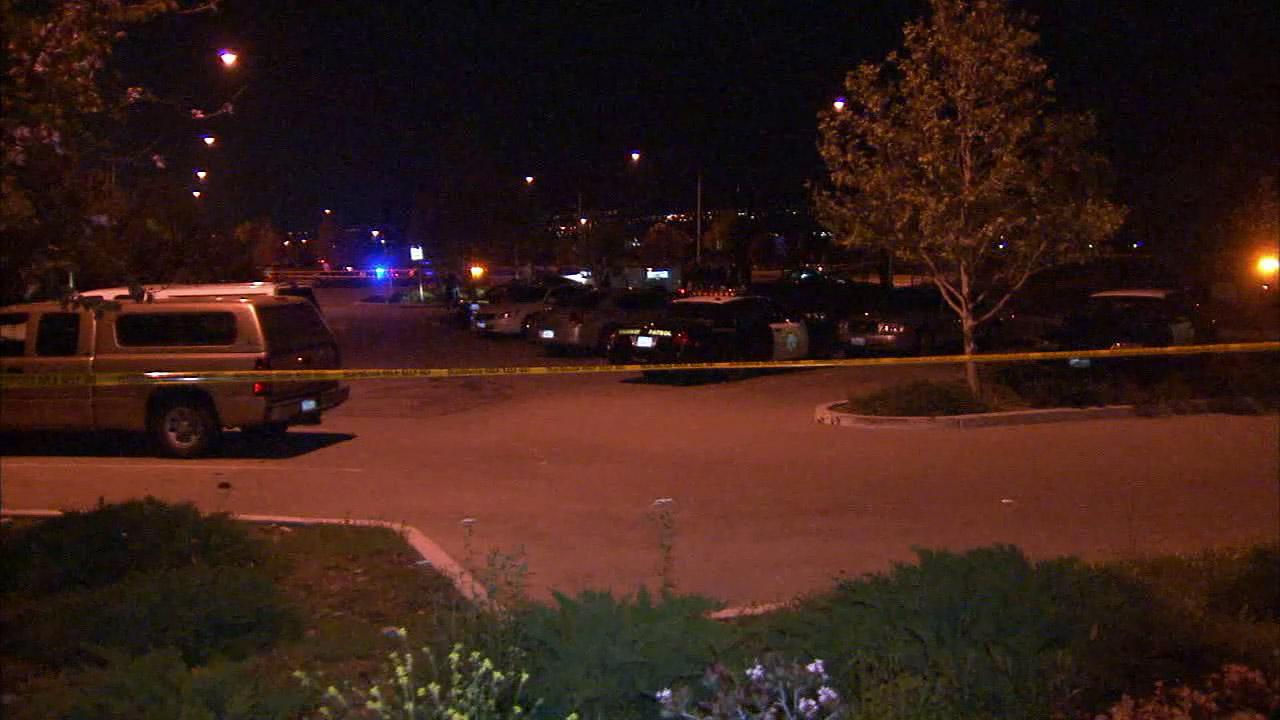 The park-and-ride lot at Beech Avenue and the 210 Freeway in Fontana was closed for a shooting investigation on Sunday, April 7, 2013.