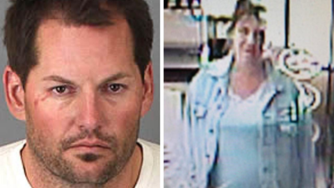 David Michael Sare, 37, of Corona (L) was arrested for residential burglary, possession of stolen property and commiting a crime while out on bail on Friday, April 12, 2013. His female accomplice (R) remains at large.