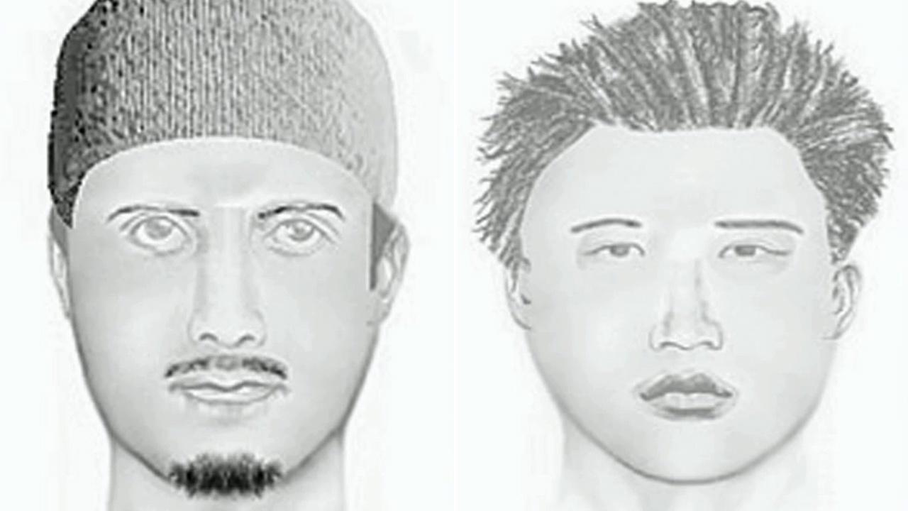 Authorities released sketches of the suspects wanted for the murder of 64-year-old Larry Robinson, a popular local musician who was killed during a robbery at Petes Music in the 28000 block of Old Town Front Street in Temecula on Friday, March 22, 2013.