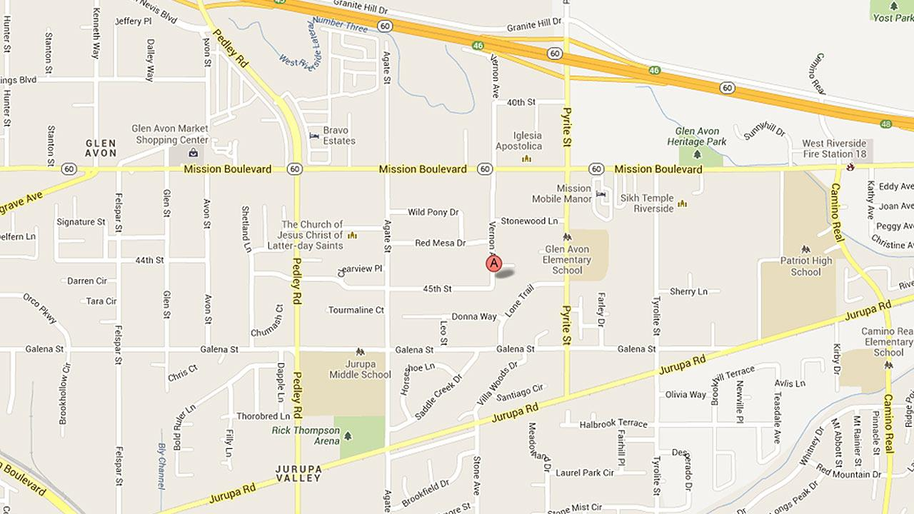 Jurupa Valley police officers responded to a report of a man shooting at an occupied residence on the 8000 block of 45th Street on June 25, 2013.