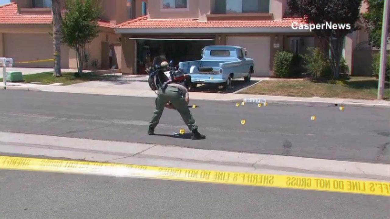 Police investigate after a dog attacked an 80-year-old man near Murrieta Friday, June 28, 2013.
