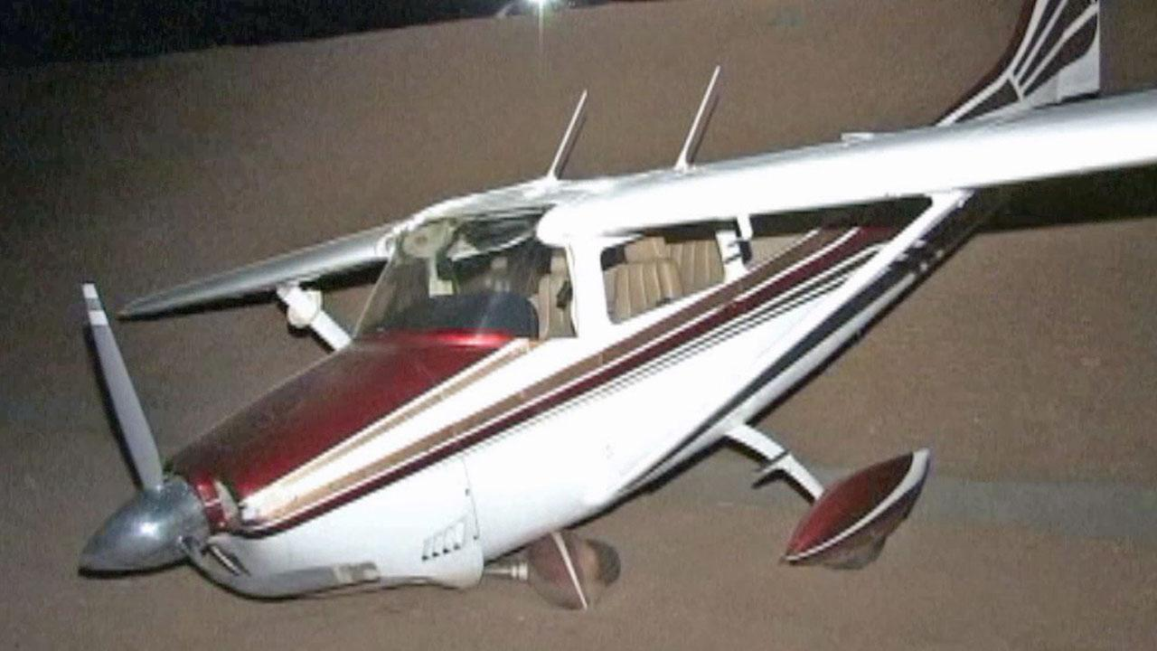 A plane struck the chimney on a vacant home, ran out of airspeed and landed in Hesperia on Monday, July 8, 2013. The pilot was able to walk away from the crash with only a minor injury.