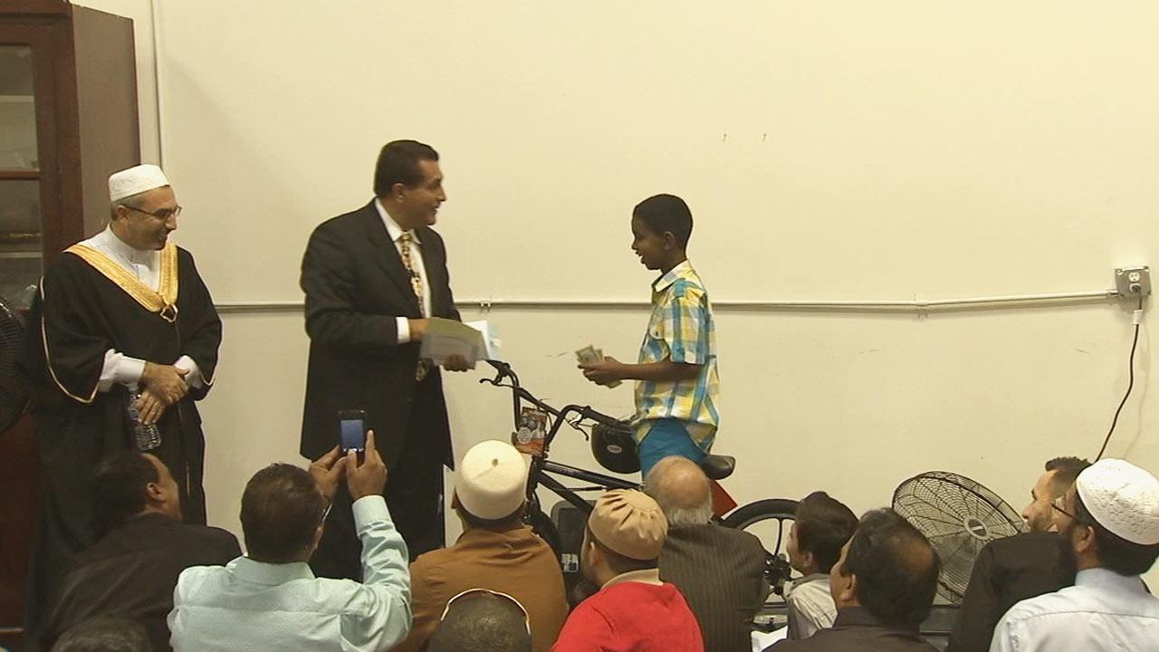 The holy month of Ramadan is not only about fasting, its about giving and sharing. A 10-year-old boy decided to give the bike money he was saving for his birthday to the Islamic Center of Temecula Valley in Murrieta to help build a new mosque.