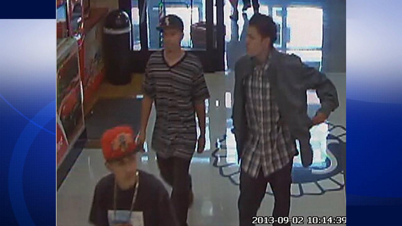 Authorities released a photograph from a surveillance video during a robbery at a Stater Bros. on Barton Road in the city of Grand Terrace in San Bernardino on Monday, Sept. 2, 2013.