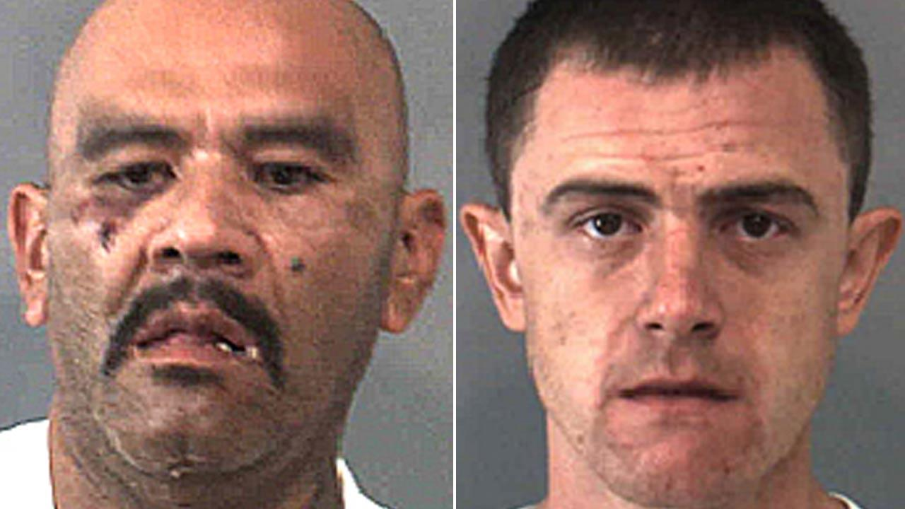 John Ernesto Gonzales, 48, of Adelanto (left) and Stephan Smith, 26, of Yucaipa (right) were arrested for home invasion robbery, attempted carjacking, assault with a deadly weapon and conspiracy charges Saturday, Oct. 13, 2013.