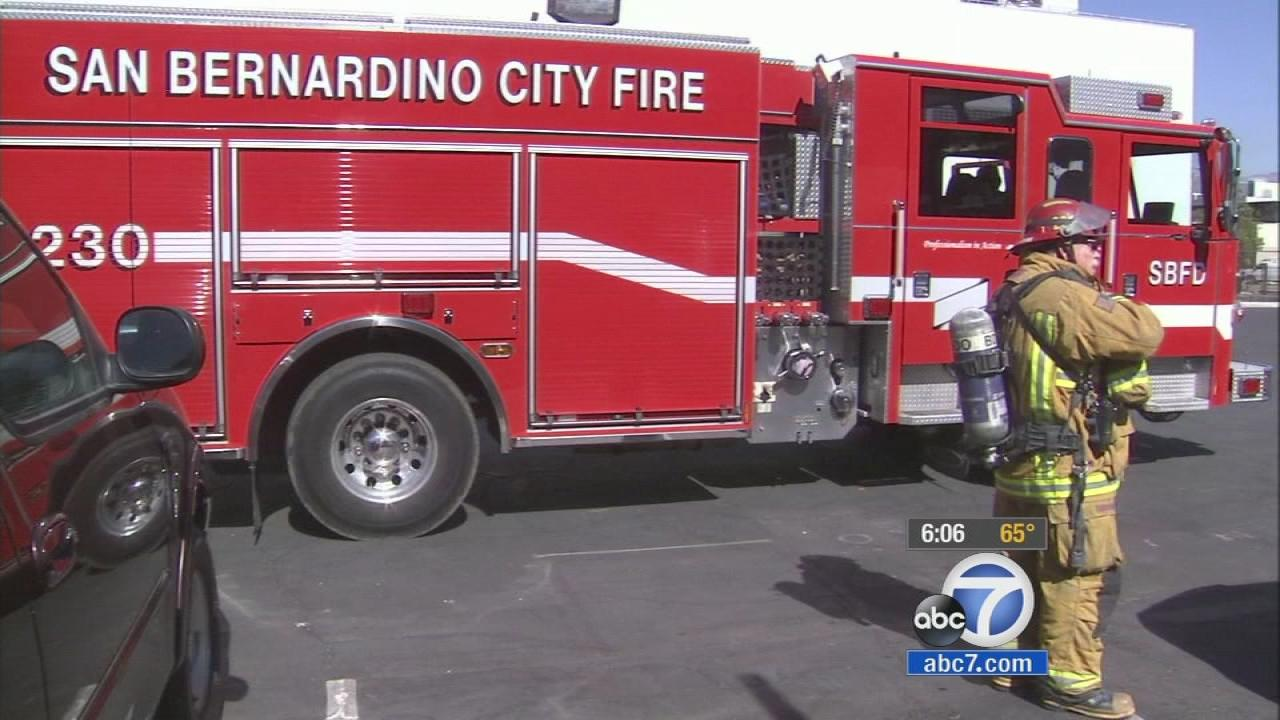 A San Bernardino City Fire Department truck is seen in this undated file photo.