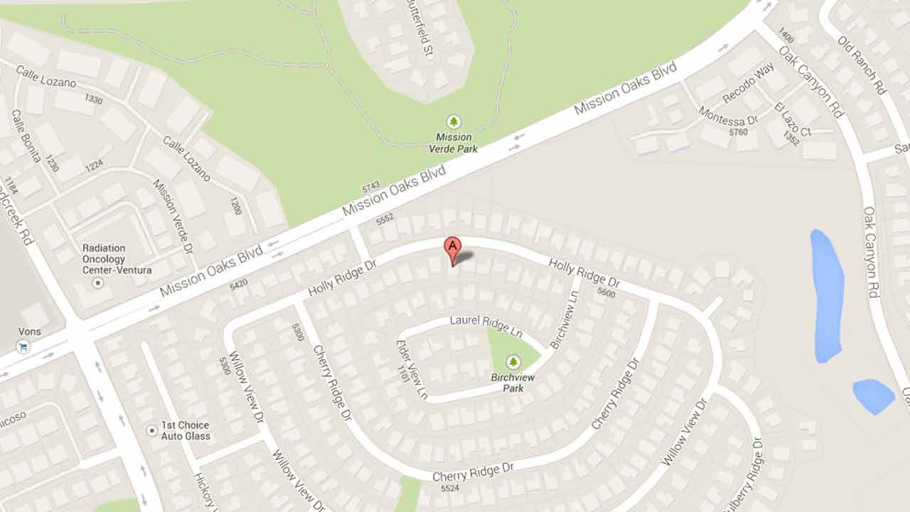 A map indicates the area near the 5300 block of Hollyridge Drive in Camarillo where Omar Ruiz, 26, of Santa Paula was arrested on a parole violation Thursday, Nov. 7, 2013.