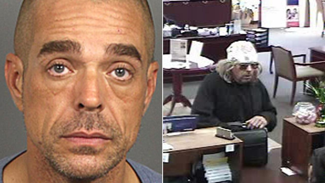 Harold Henry Ghaemmaghami, accused of robbing a U.S. Bank in La Quinta, is seen in these photos provided by the Riverside County Sheriffs Department.