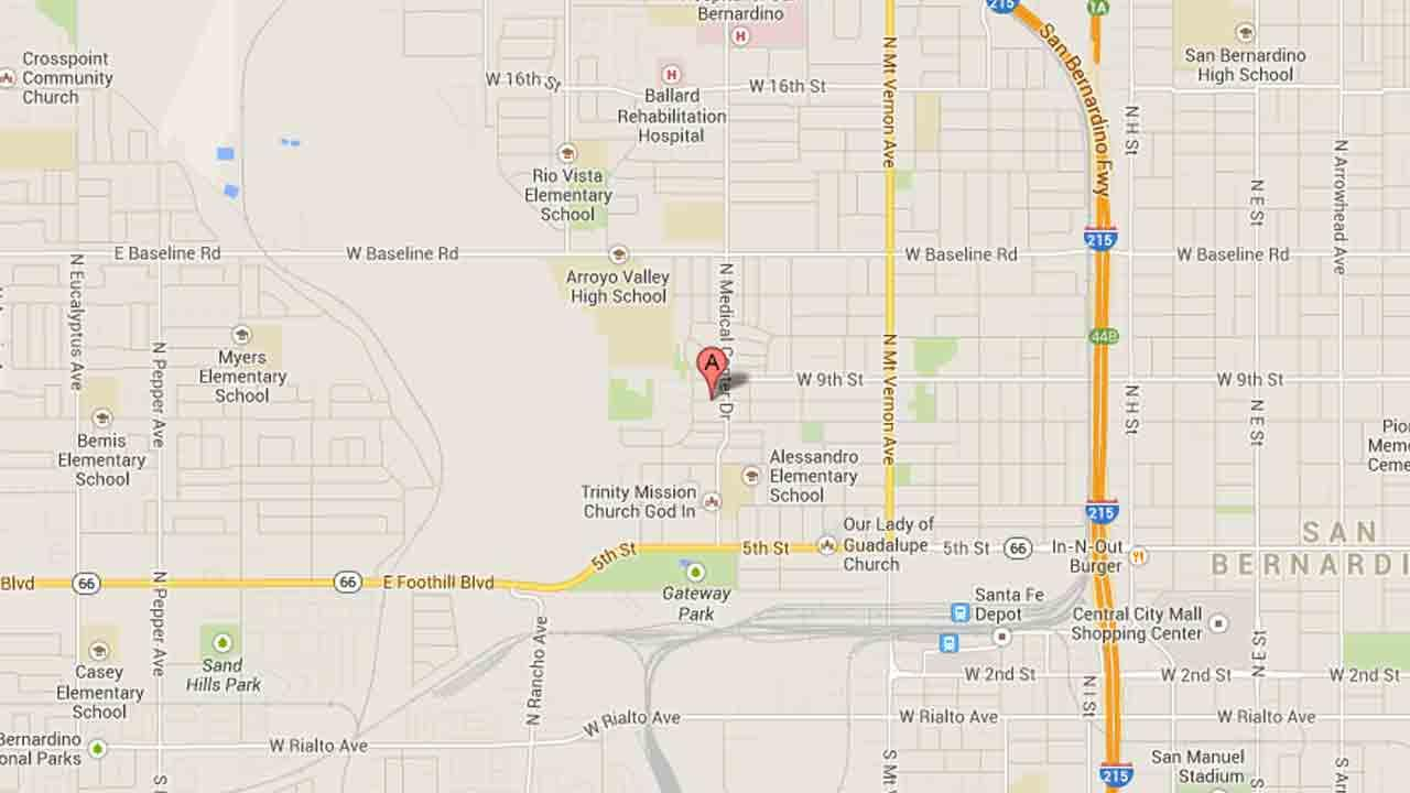 A map indicates the area near the 1200 block of West Union Street in San Bernardino where a 39-year-old was beaten to death Sunday, Dec. 22, 2013.
