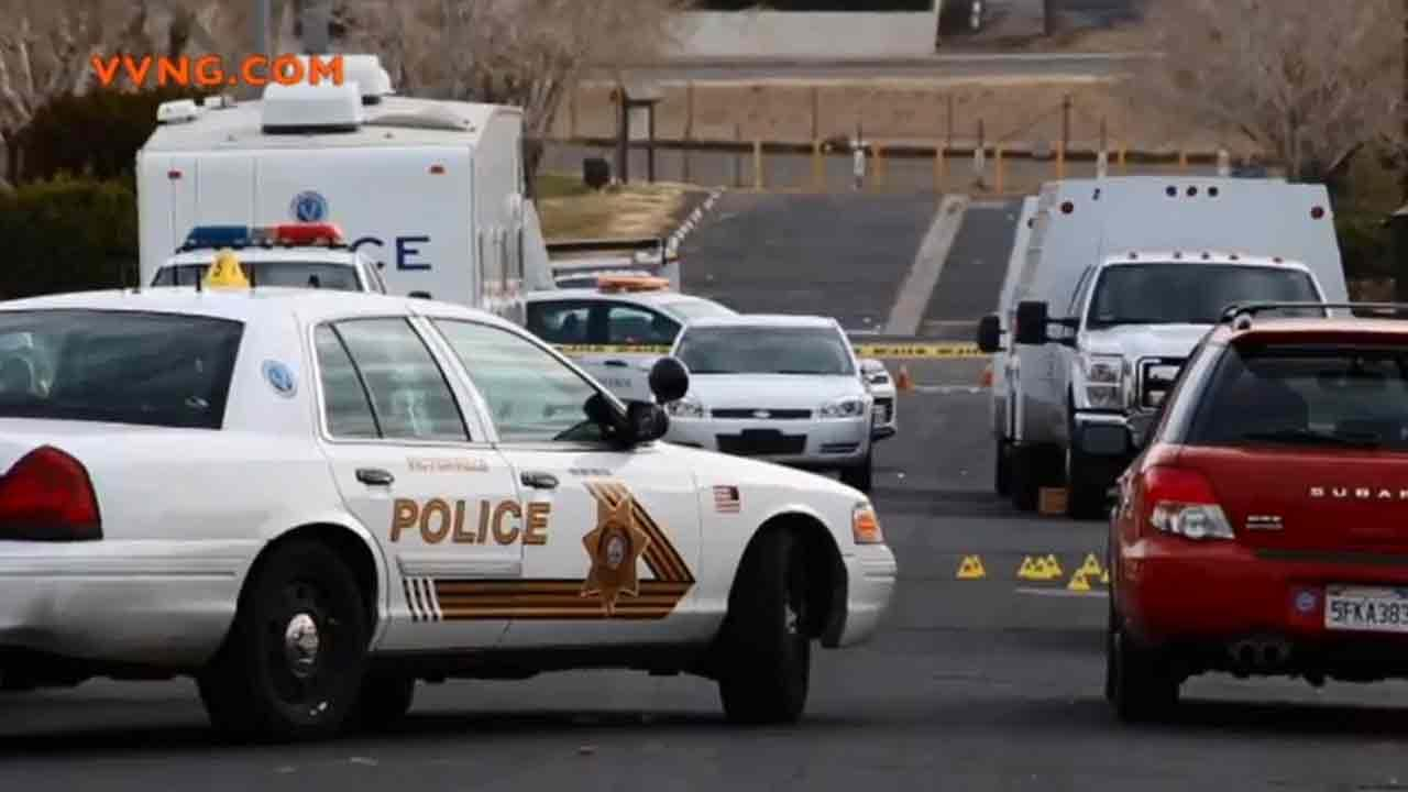 An investigation is underway following a deputy-involved shooting on the 16700 block of Lacy Street in Victorville Sunday, Jan. 12, 2014.
