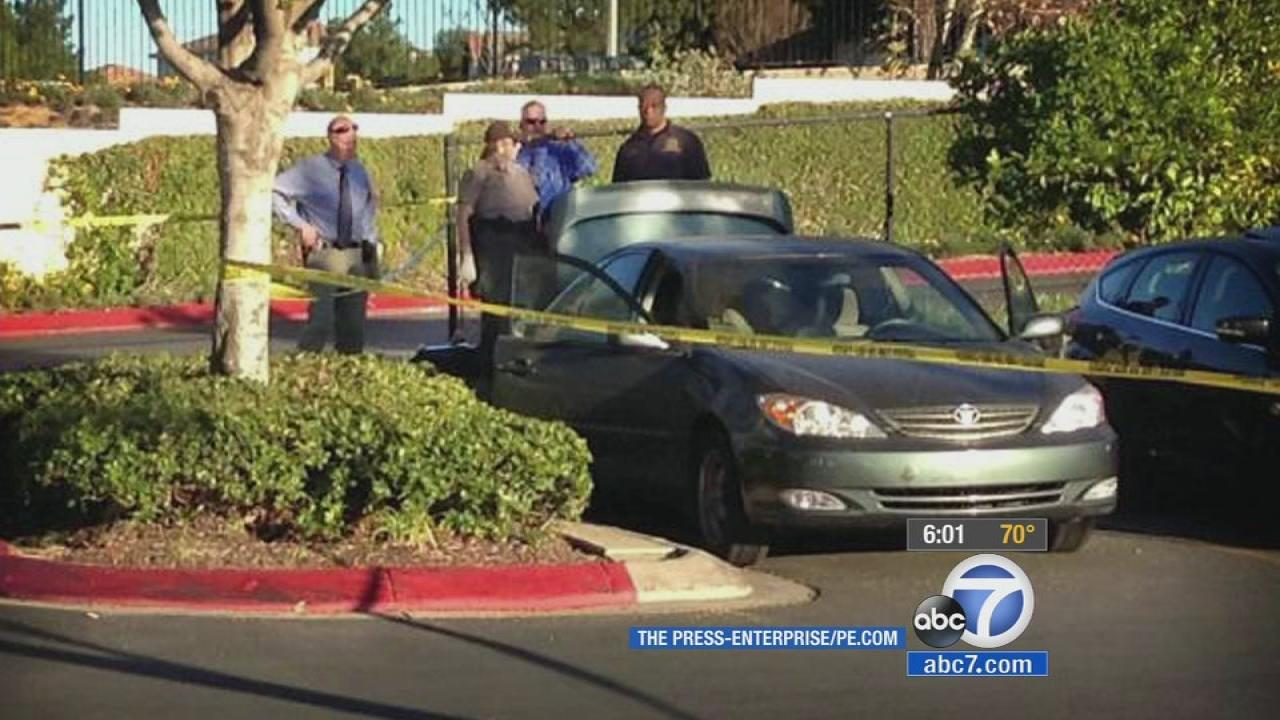A body was found in a car in Riverside on Friday, Jan. 17, 2014.