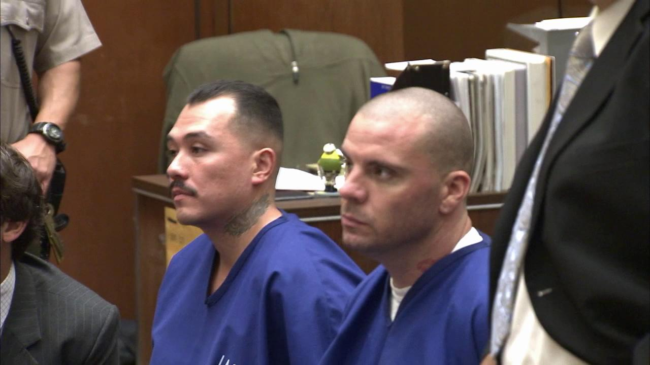 Louie Sanchez and Marvin Norwood appear at an arraignment hearing on Friday, June 22, 2012, to face charges stemming from the beating of San Francisco Giants fan Bryan Stow.