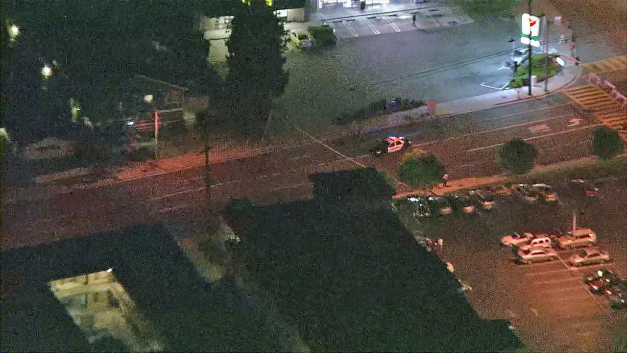 Police were at the scene of a barricade situation in Monrovia on Tuesday, June 26, 2012.