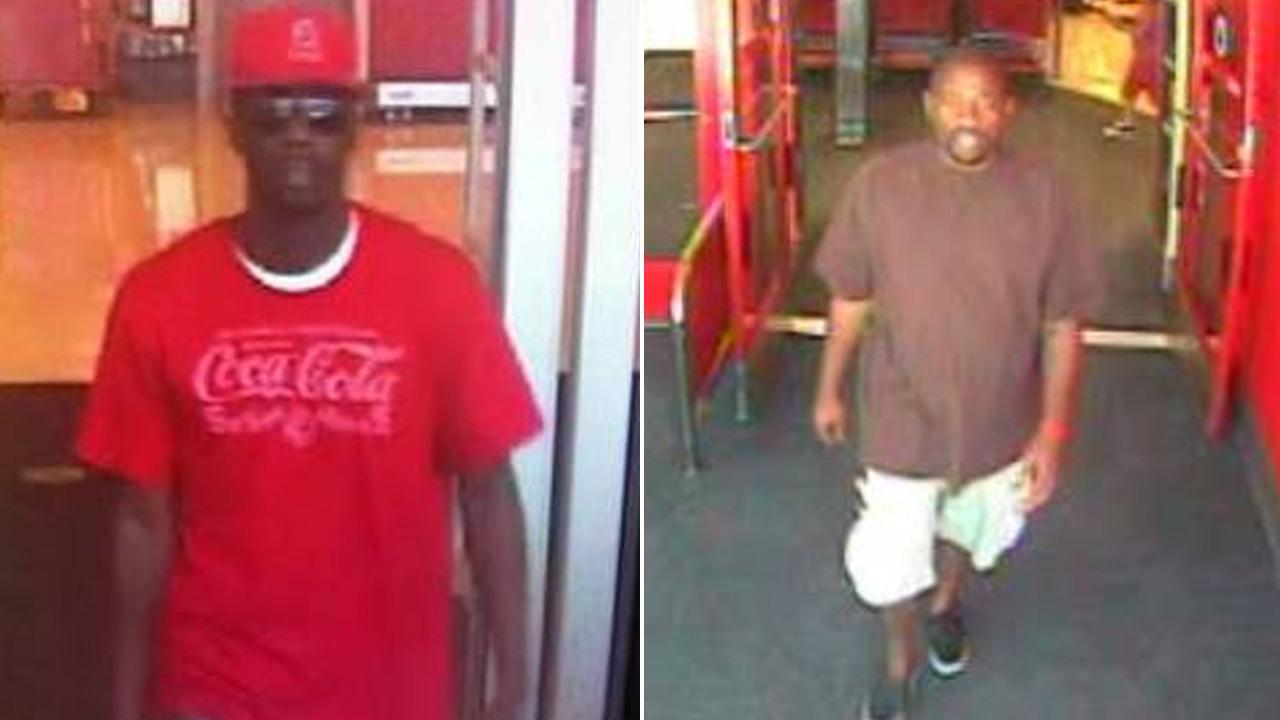 Two suspects, seen in these surveillance still images, are wanted for using fraudulent checks at major retailers in the Palmdale area.