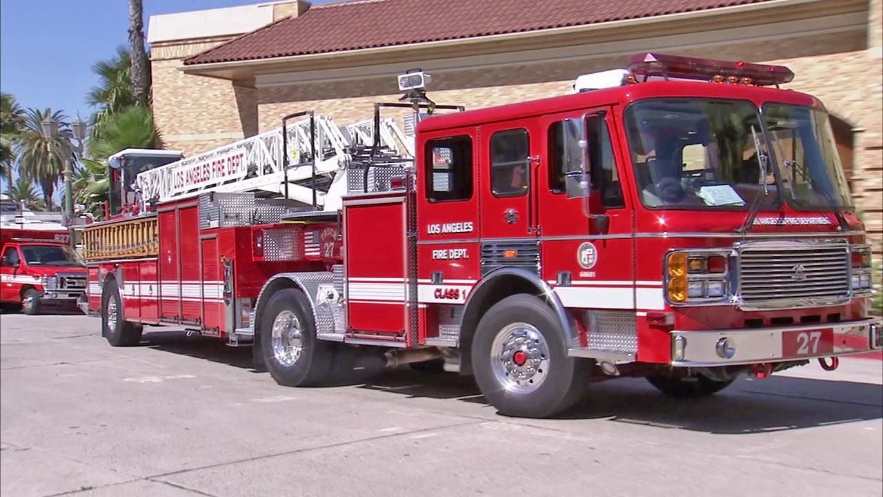 A Los Angeles Fire Department engine is shown in this undated file photo.