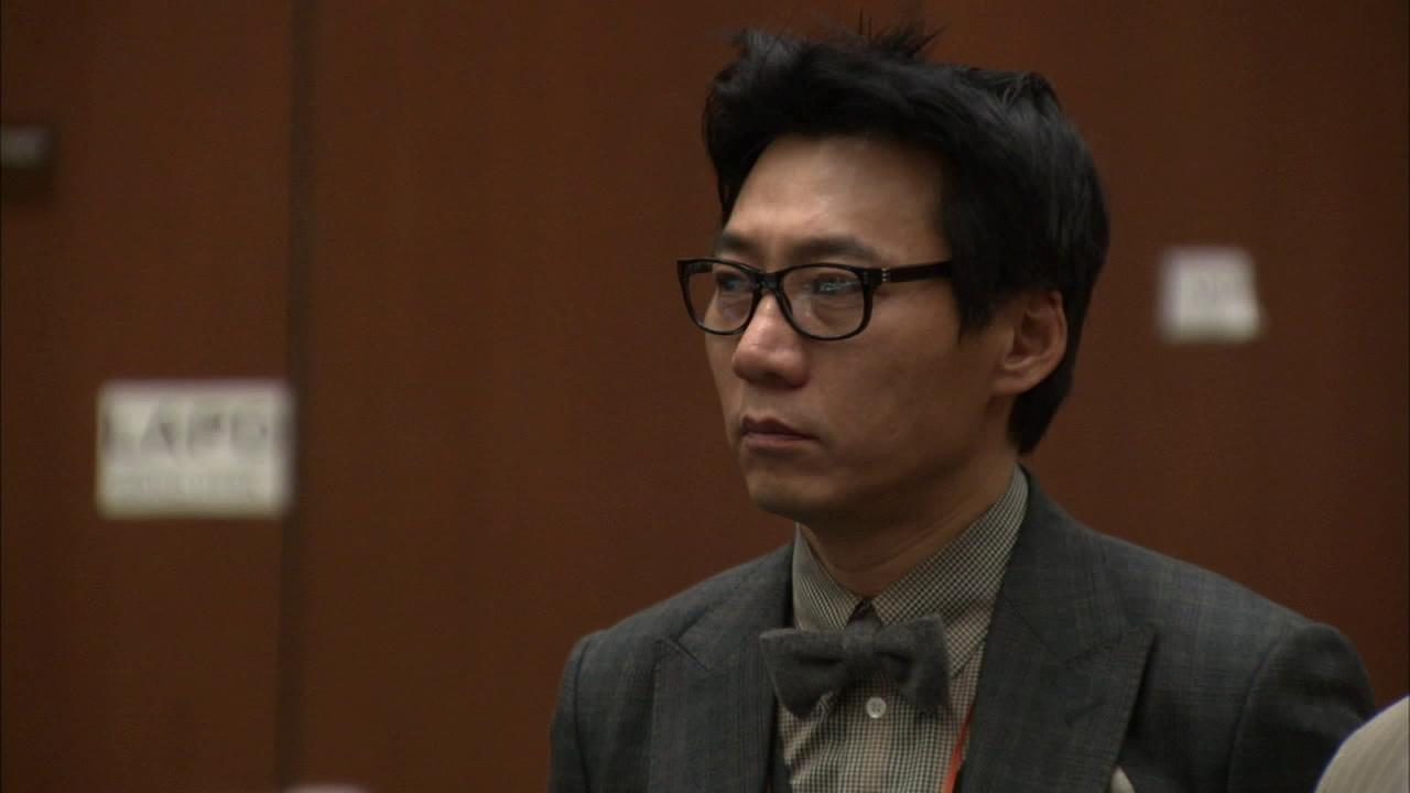 Pinkberry co-founder Young Lee is seen in court in this undated file photo.