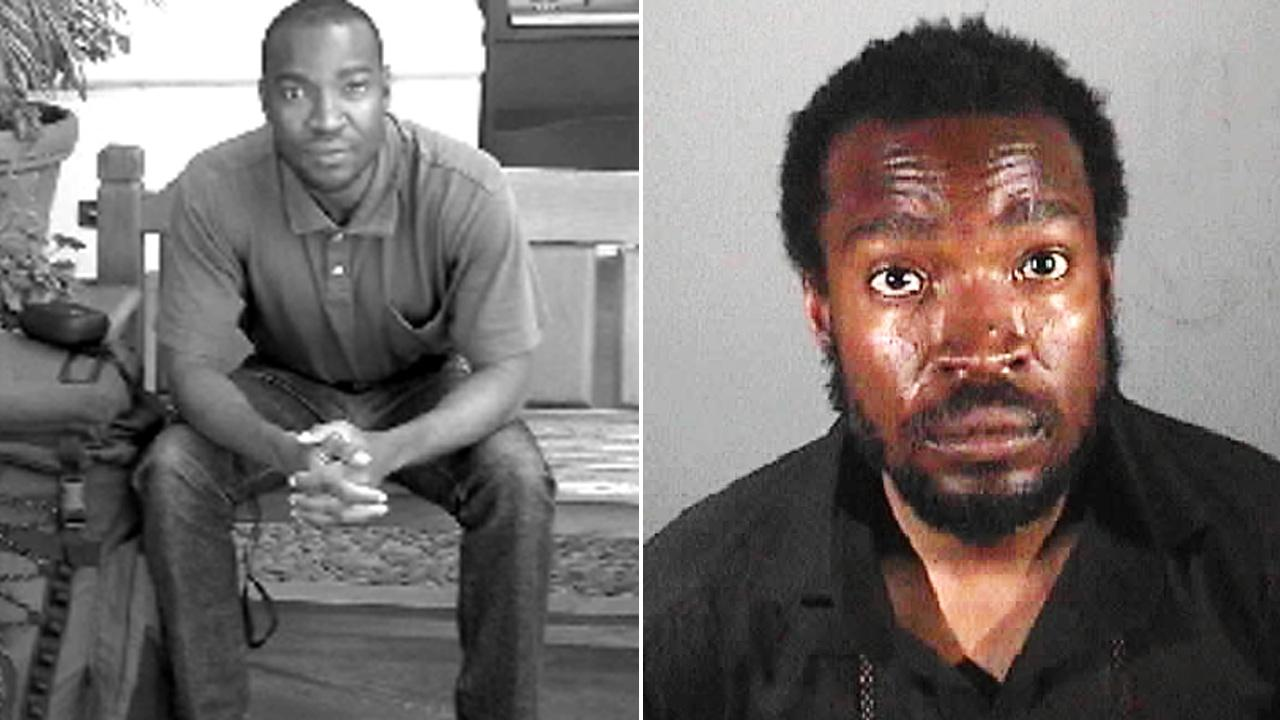 Courtney Anthony Robinson, seen in these photos provided by police, is accused of attacking three homeless people at various locations in Los Angeles County.
