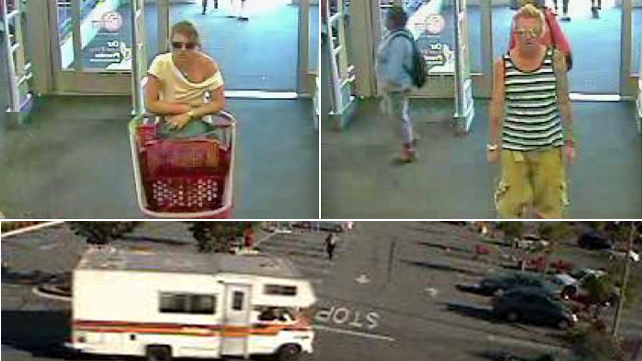 Suspects in an apartment break-in robbery near the UCLA-area are shown in surveillance camera still images from July 9, 2012.