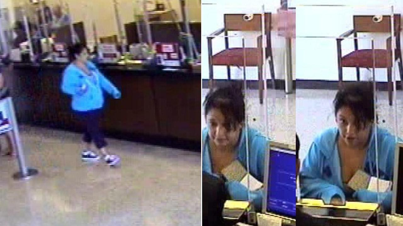The so-called Plain Jane Bandit is seen in images from surveillance video on Monday, July 30, 2012.