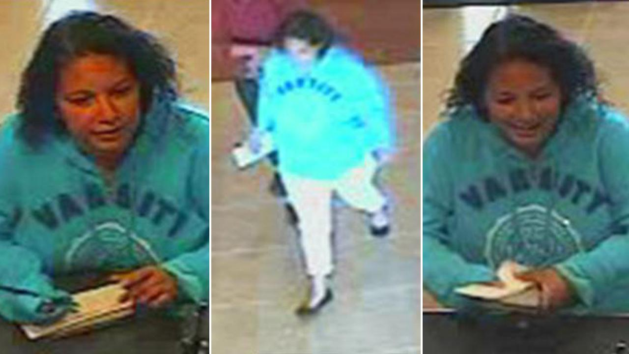 The so-called Plain Jane Bandit is seen in images from surveillance video on Tuesday, July 31, 2012.
