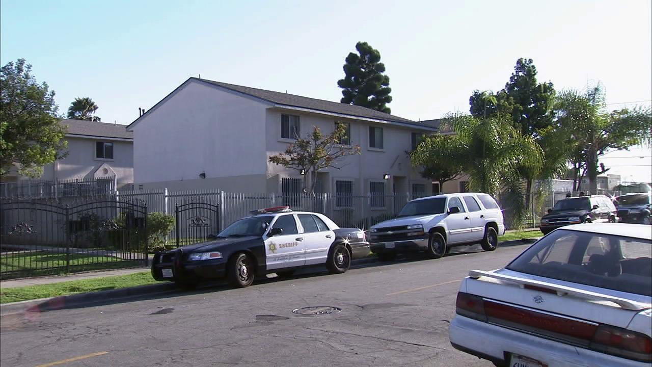 A 1-year-old girl was found dead in South Los Angeles under what deputies called suspicious circumstances on Sunday, Aug. 5, 2012.