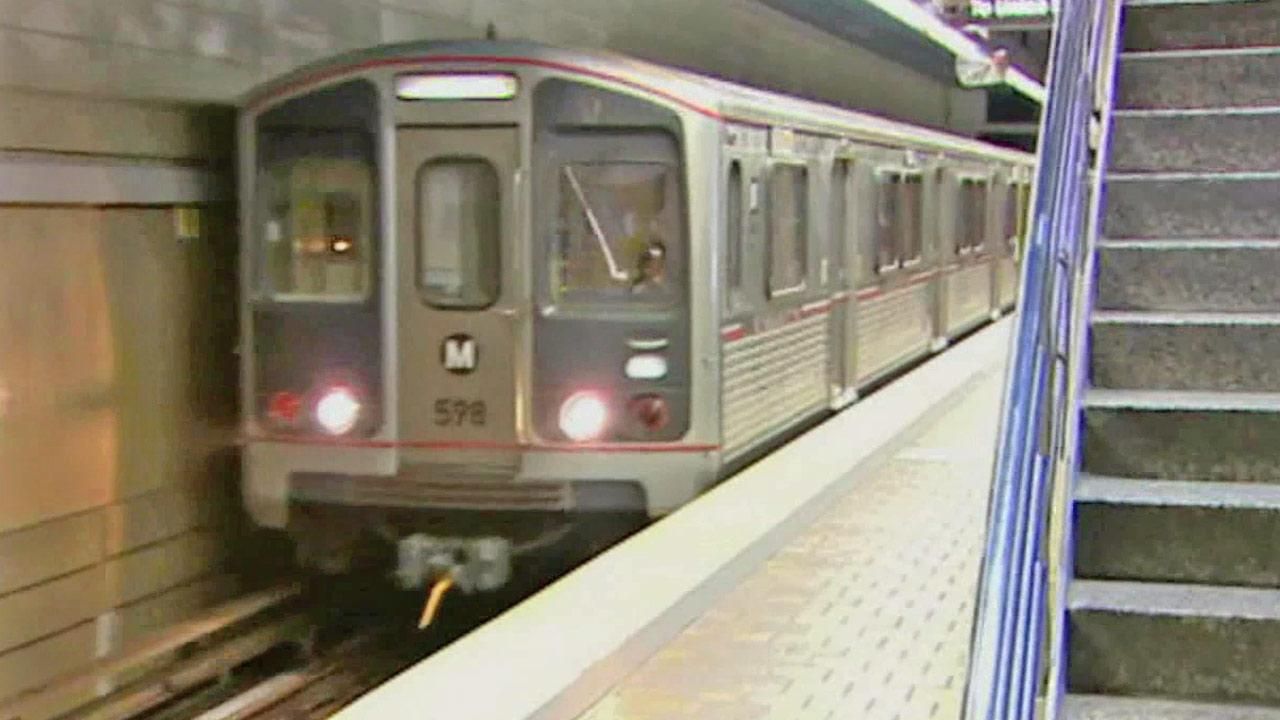 A Metro train speeds along in this undated file photo.