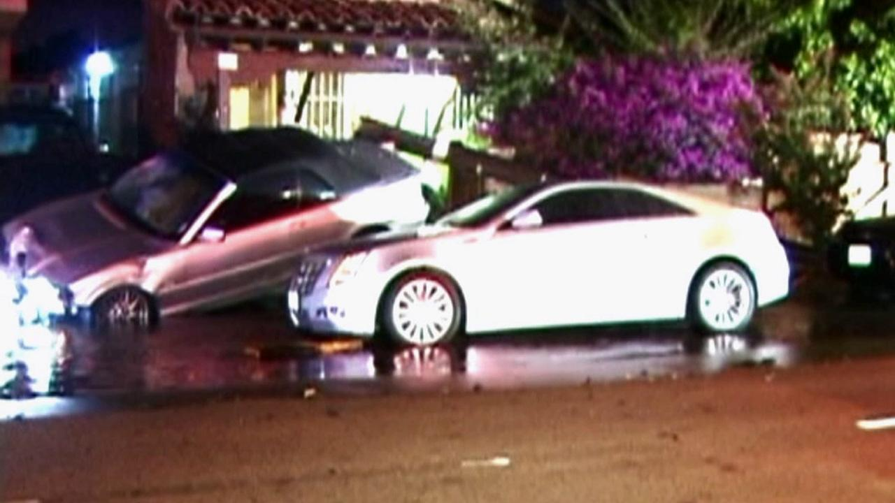 A driver apparently fell asleep and crashed into a power pole and fire hydrant on Monday, Aug. 13, 2012.