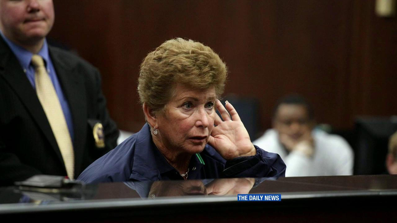 Professional tennis lines umpire Lois Goodman, 70, appears in a New York City courthouse on Tuesday, Aug. 21, 2012.