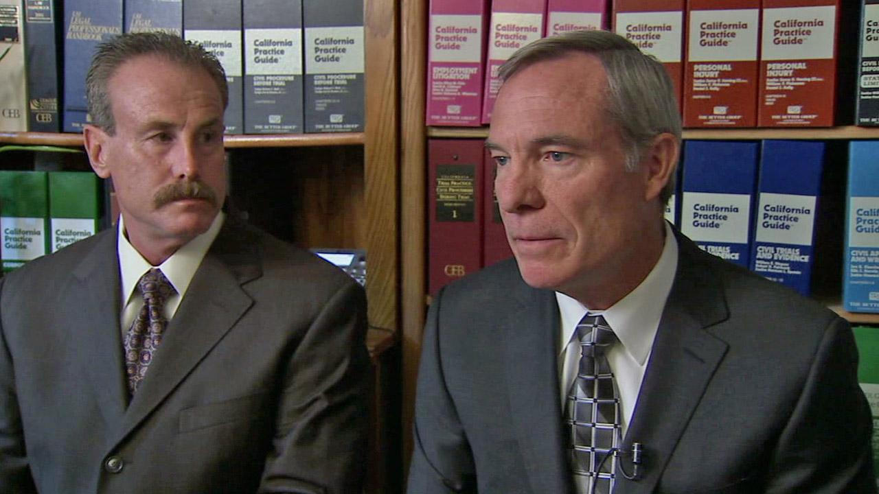 Los Angeles Police Capt. Joseph Hiltner (right) on Sunday, Sept. 9, 2012, speaks out about his demotion and reassignment as commander of the Foothill Division after a video surfaced of two of his officers body slamming a woman during a traffic stop.