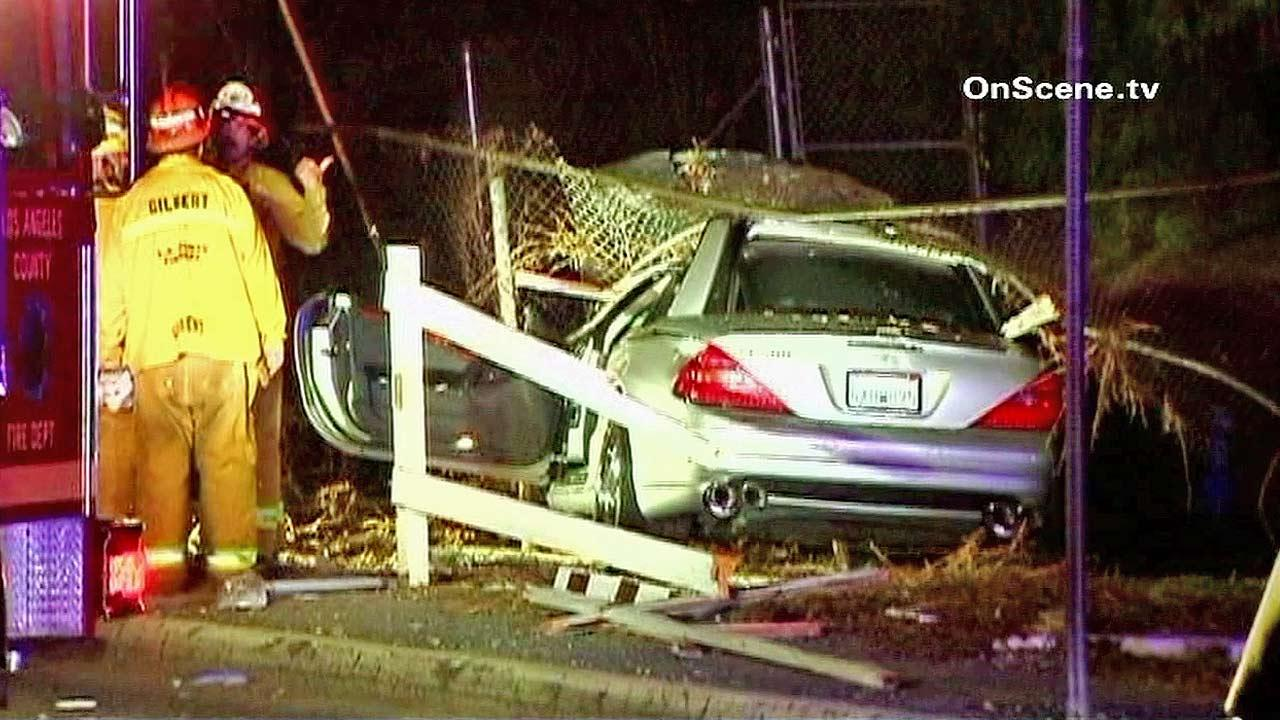 A man and a horse died as a result of a car collision on Crenshaw Boulevard in Rolling Hills Estates, Tuesday, Sept. 18, 2012.