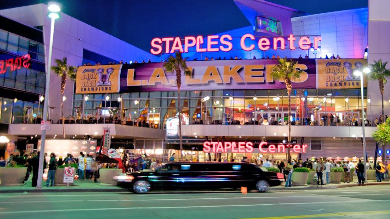 Staples Center in downtown Los Angeles is seen in this undated file photo.