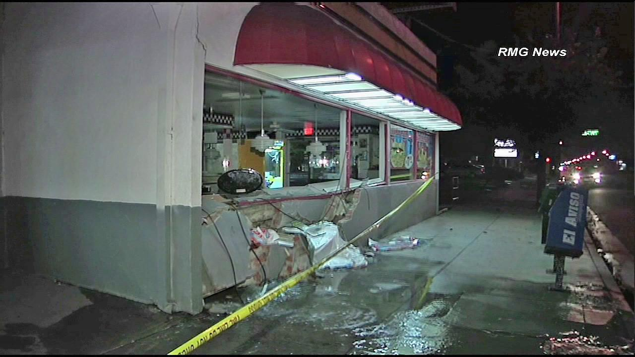 Star Burgers in Bell is seen after a suspected drunk driver crashed into the restaurant on Sunday, Sept. 23, 2012.