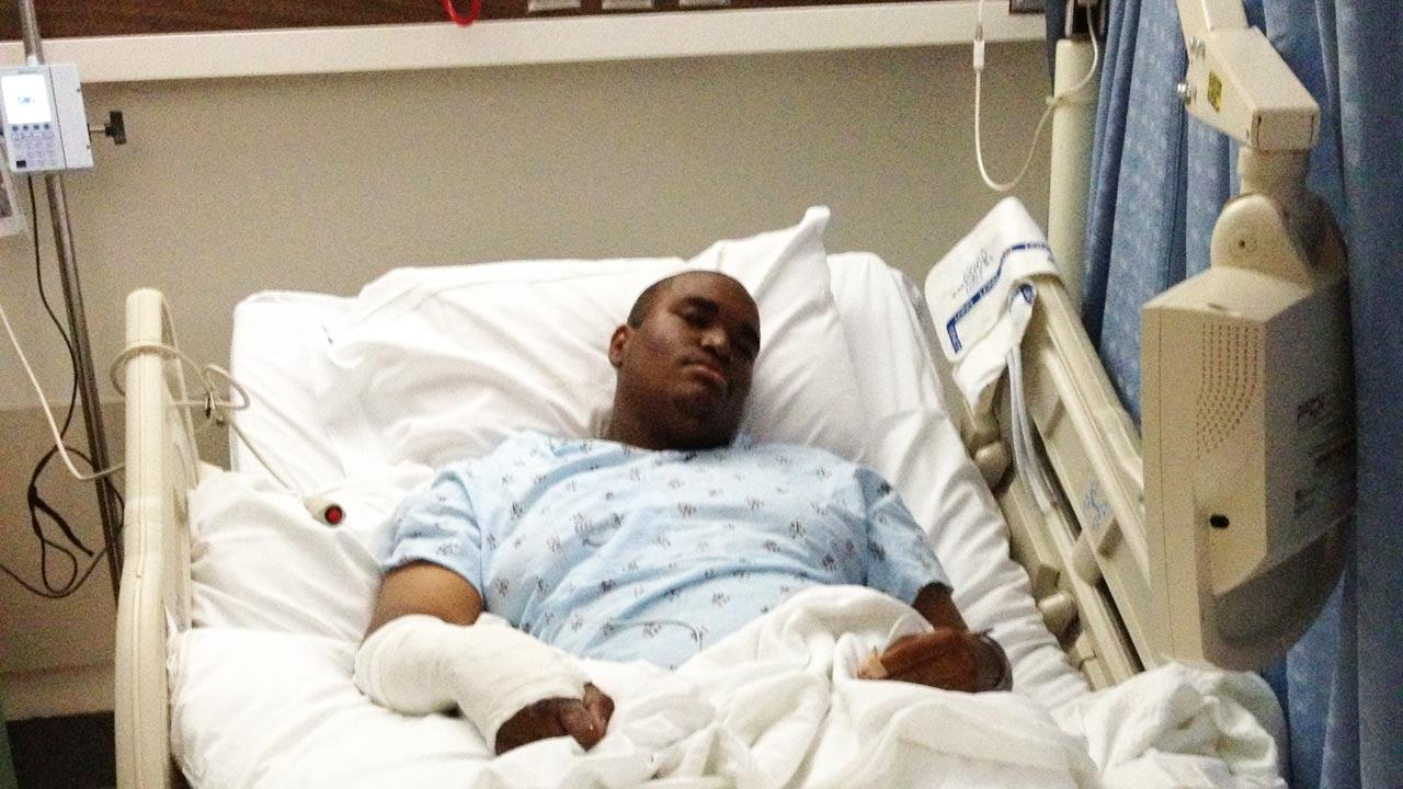 Anthony Clay, 17, was hospitalized after being struck by a Toyota SUV while riding his bike near 126th Street and Oxford Avenue in Hawthorne Saturday, Oct. 6, 2012.