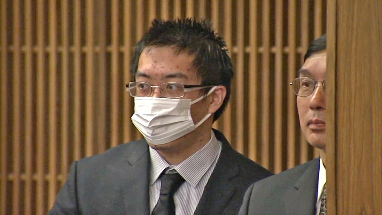 Eric Yee, a 21-year-old former Yale University student, appears in court on an illegal weapons charge on Tuesday, Oct. 16, 2012.