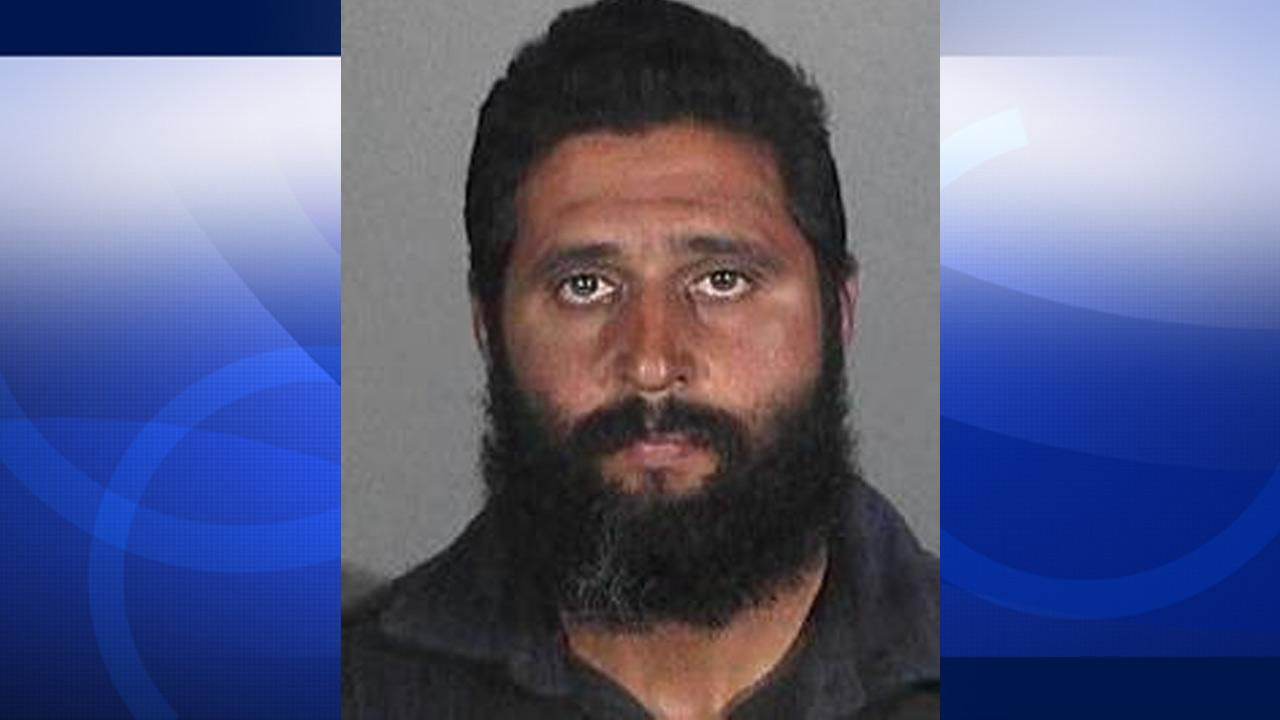 Brandon Cross, 36, of Chino, is seen in this undated mugshot provided by the Santa Monica Police Department.