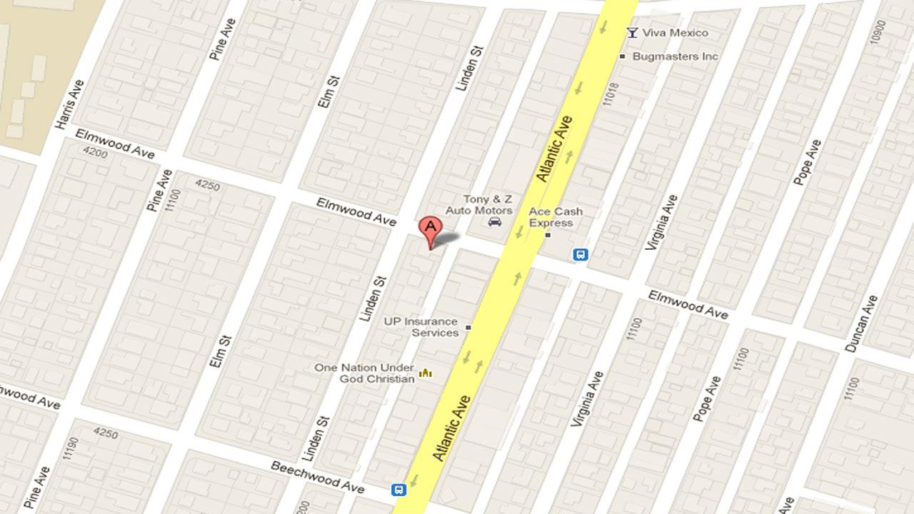 A map indicates where a man was deliberately run over by a car and killed outside a party in the 11100 block of Linden Street in Lynwood early Sunday, Oct. 28, 2012.