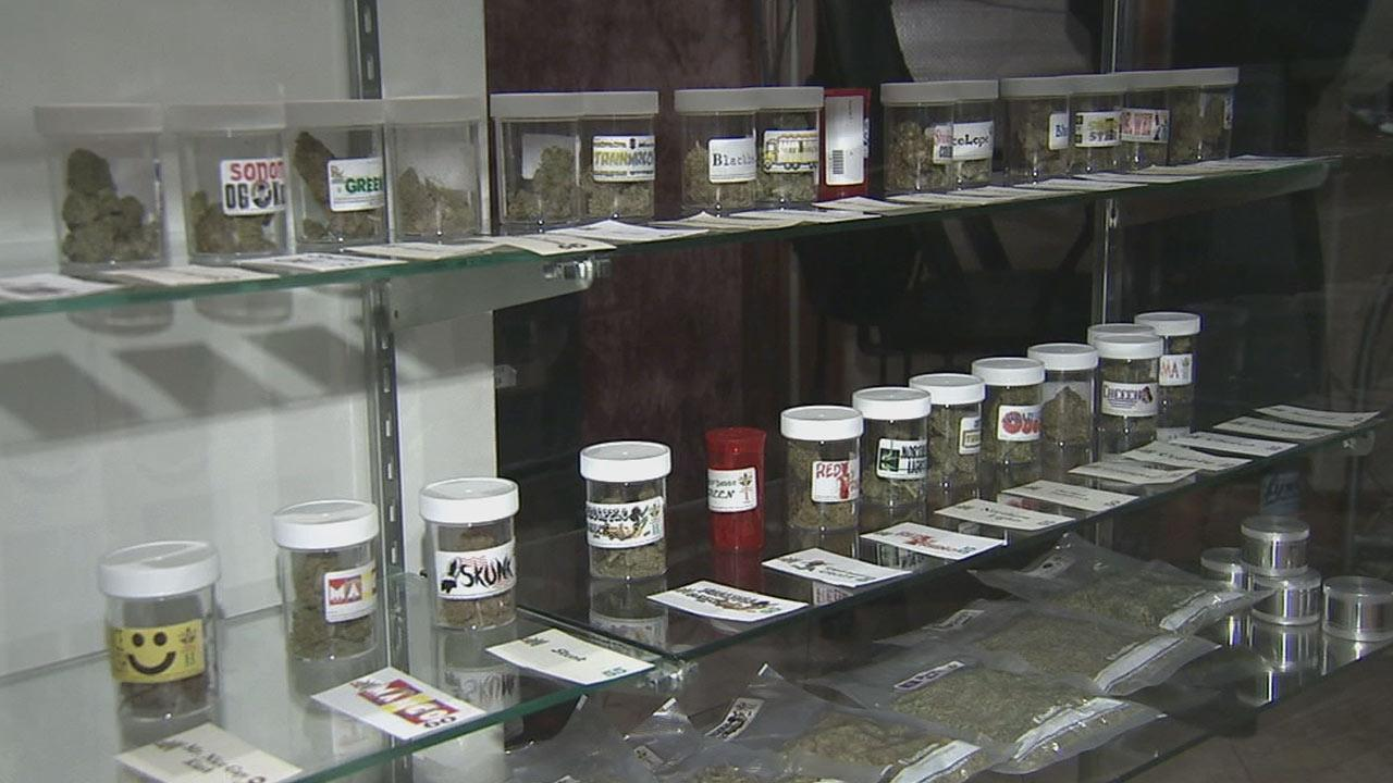 Medical marijuana at a Los Angeles dispensary is seen in this undated file photo.