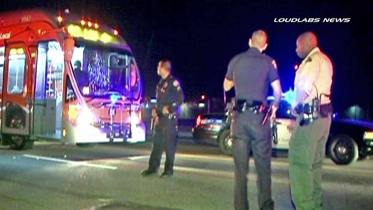 A MTA bus driver was attacked by a passenger in Los Angeles on Monday, Nov. 5, 2012, authorities said. A man has been arrested.