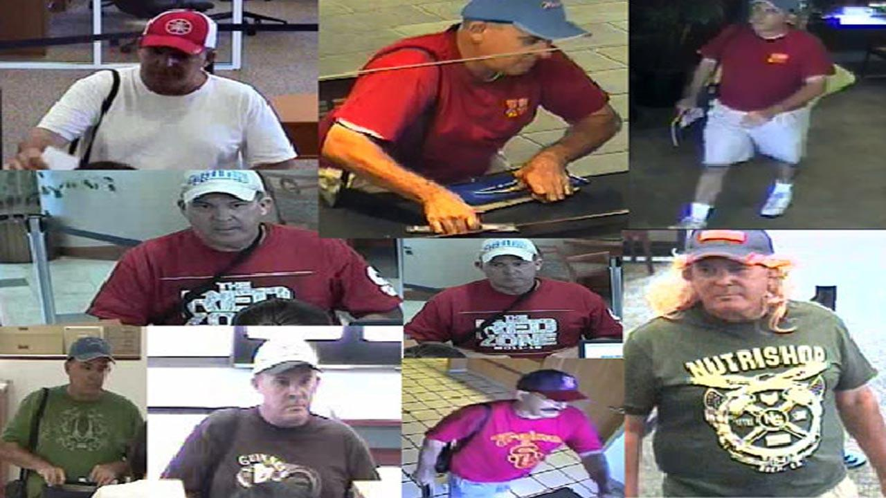 The FBI has released surveillance photographs of the Desperate Bandit, hoping it will lead to an arrest.