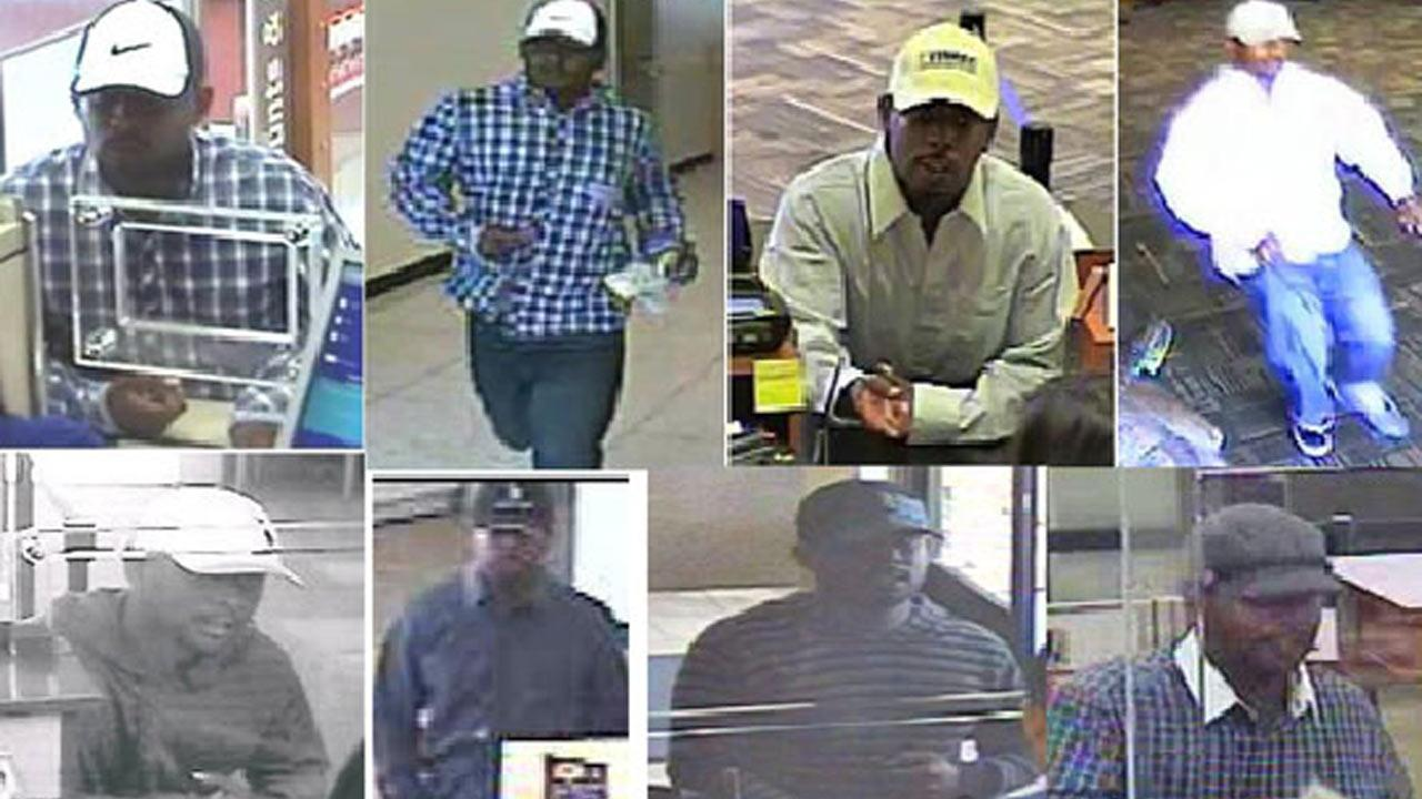 The FBI has released surveillance photographs of the Dont Even Bandit, hoping it will lead to an arrest.