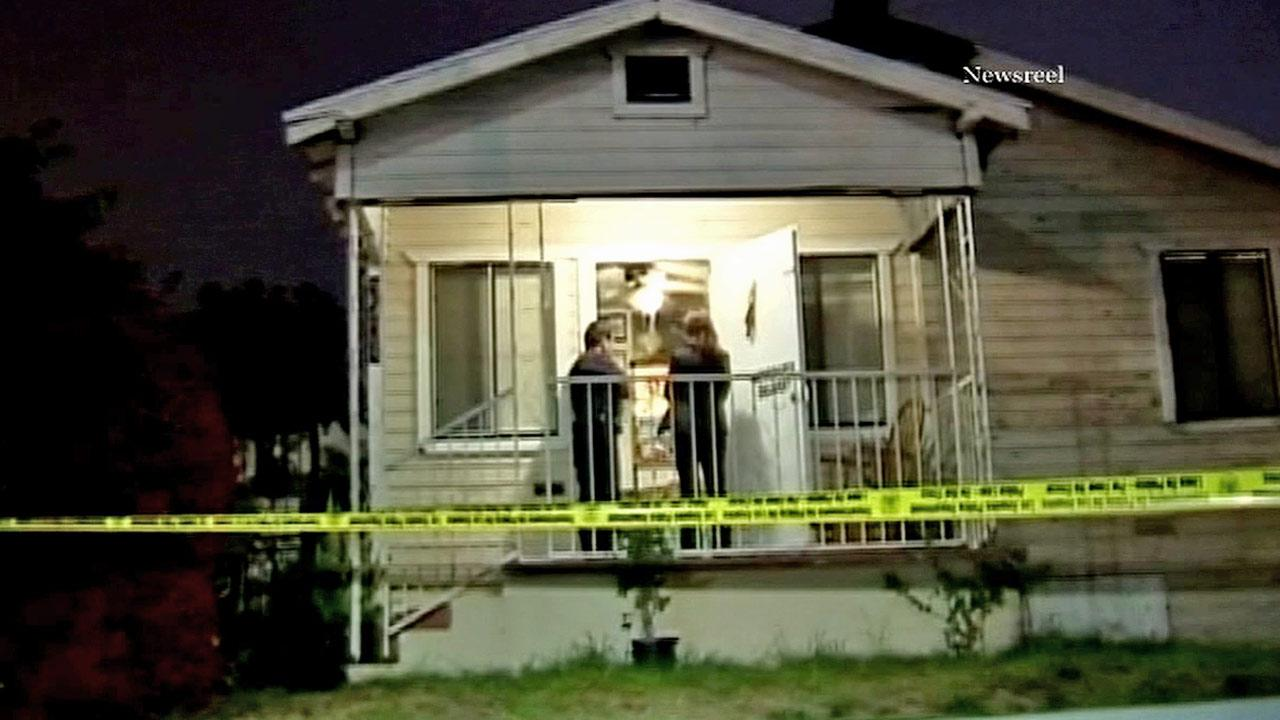 A Los Angeles man is in custody after fatally shooting his brother and his brothers friend at a home located in the 3300 block of East Hunter and Corcord streets Tuesday, Nov. 6, 2012.
