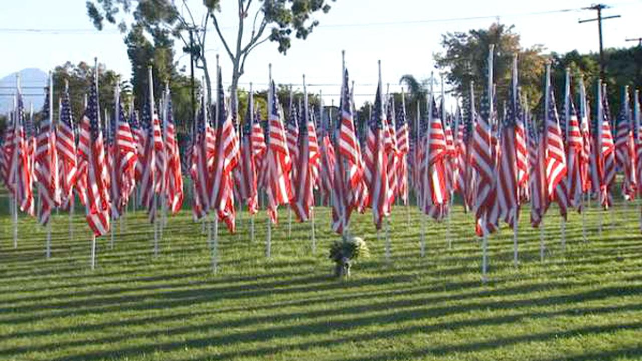 The Covina Rotary Club paid tribute to U.S. troops throughout the Veterans Day weekend with its Field of Valor, which featured 2,001 flags.