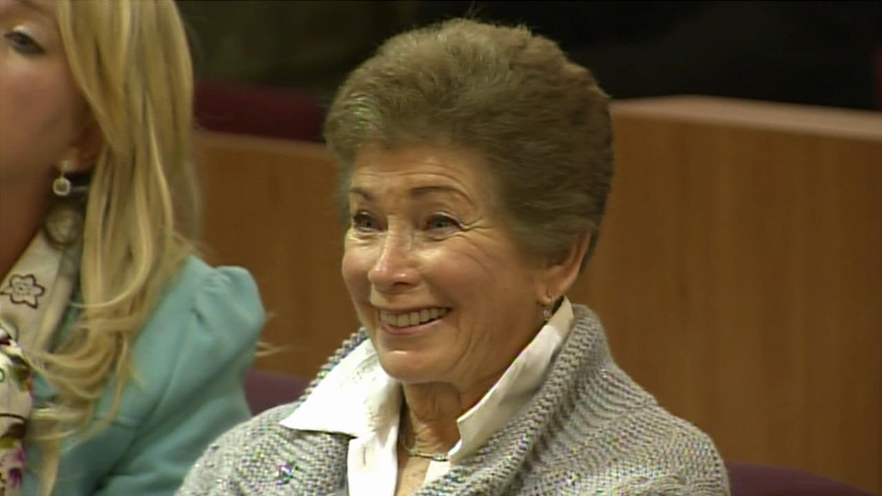 Tennis umpire Lois Goodman appears in court on Friday, Nov. 30, 2012.