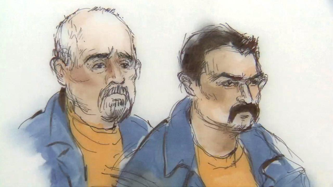 Manuel Beltran Higuera (left) and Jose Meija Leyva were charged Monday, Dec. 3, 2012, in the killing of a U.S. Coast Guardsman Chief Petty Officer Terrell Horne III, who died in a confrontation with suspected drug smugglers.