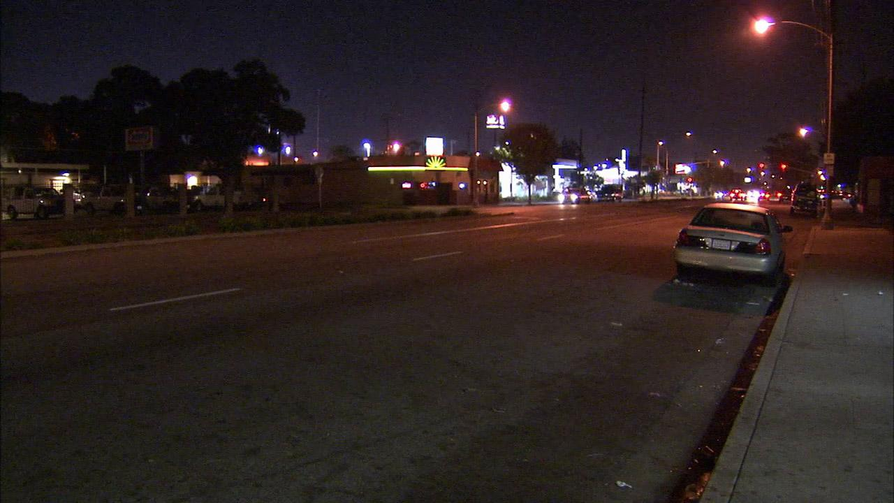 A man was struck and killed as he crossed Artesia Boulevard at Rose Avenue in Long Beach on Sunday, Dec. 9, 2012.