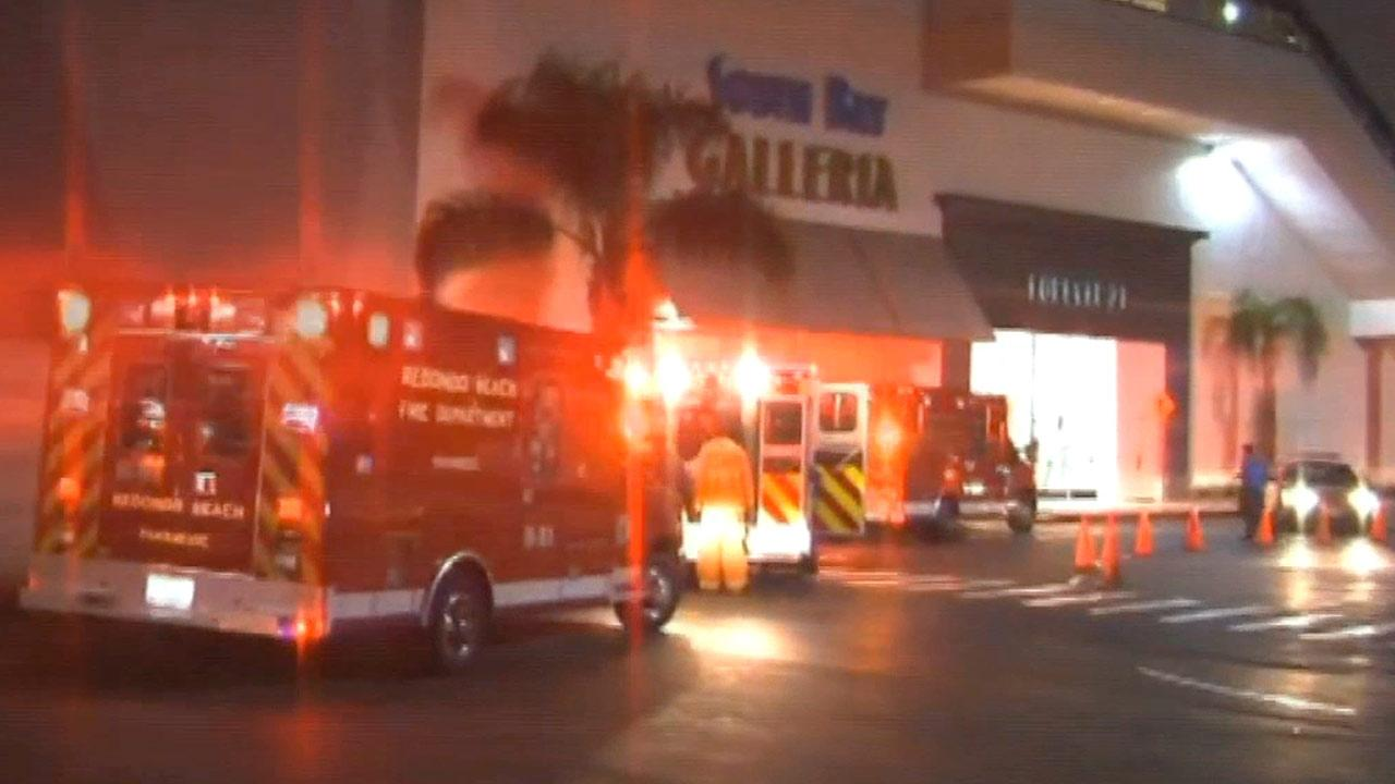 Police said two minors were stabbed at South Bay Galleria in Redondo Beach on Saturday, Dec. 29, 2012.