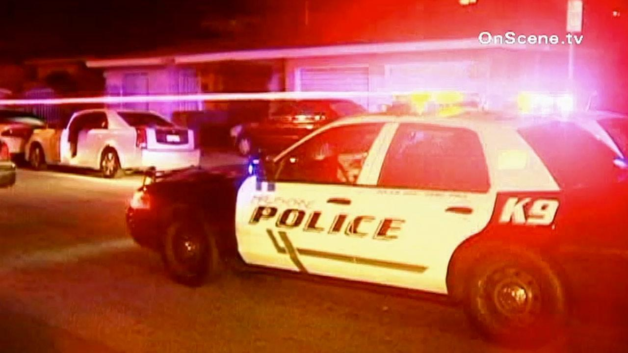 Officers responded to the scene of a shooting where one man was fatally shot and up to five others wounded at a New Years party on the 10000 block of Cerise Street in Hawthorne Tuesday, Jan. 1, 2013.